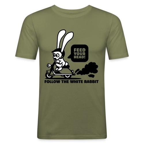White Rabbit (army green) SLIMFIT - Slim Fit T-skjorte for menn