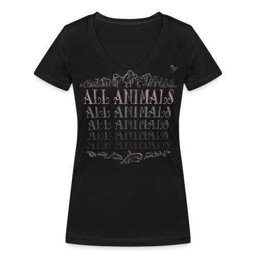 All Animals - BIO - T-shirt bio col V Stanley & Stella Femme