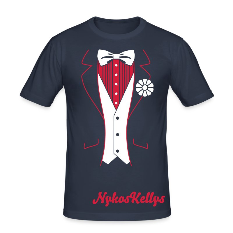 Elegant Style By Nykos Kellys - Men's Slim Fit T-Shirt