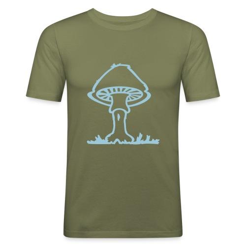 Mushroom - Männer Slim Fit T-Shirt