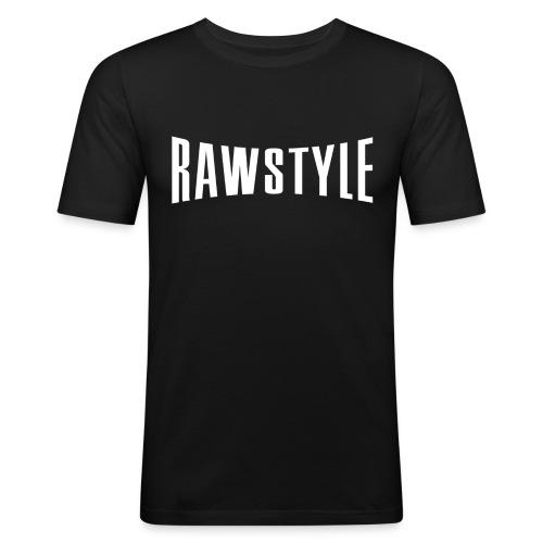Rawstyle logo black tshirt - Men's Slim Fit T-Shirt