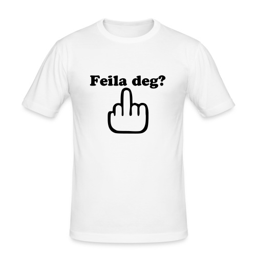 Feila deg? - Slim Fit T-skjorte for menn