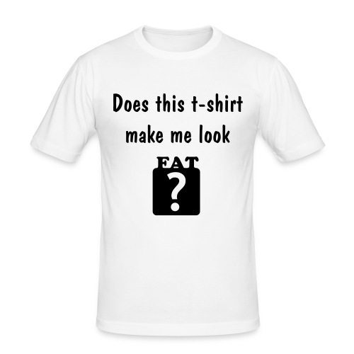FAT? - Slim Fit T-skjorte for menn