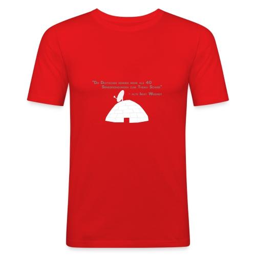 Schneechaos slim fit DD - Männer Slim Fit T-Shirt
