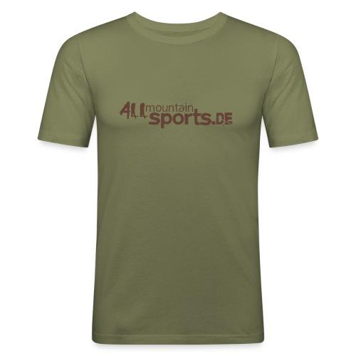 T-Shirt ALLmountainSPORTS.de camel/braun - Männer Slim Fit T-Shirt