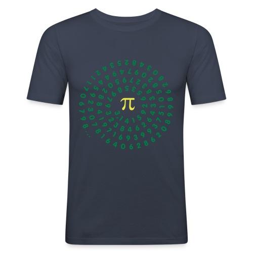 Número PI Espiral - Camiseta ajustada hombre