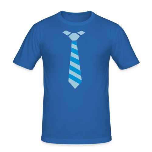 mens tie tee with who's the Daddy! - Men's Slim Fit T-Shirt