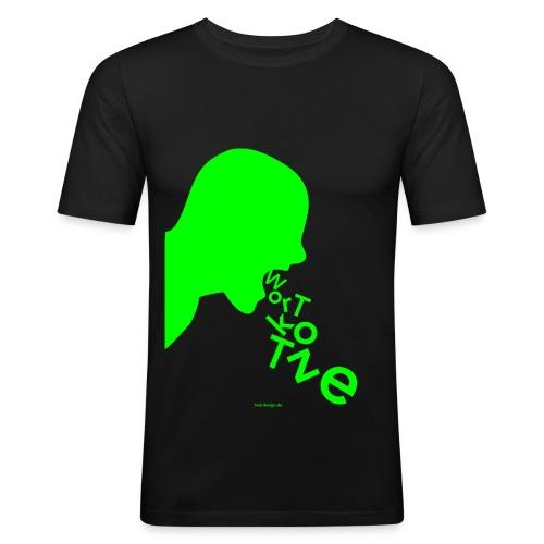 Wortkotze - Männer Slim - Männer Slim Fit T-Shirt