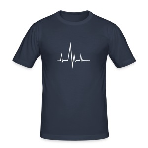 Flatline - Men's Slim Fit T-Shirt