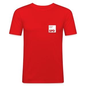 SPD Sachsen-Anhalt  Männer Slimfit-Shirt - Männer Slim Fit T-Shirt