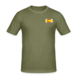 Men's Slim Fit T-Shirt with Spain flag Logo - Men's Slim Fit T-Shirt