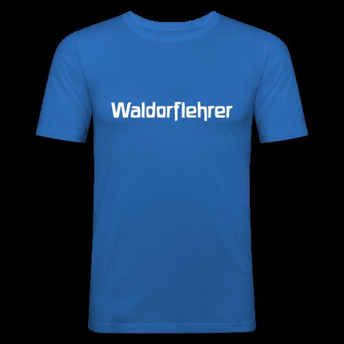 Waldorflehrer Slim Shirt - Männer Slim Fit T-Shirt