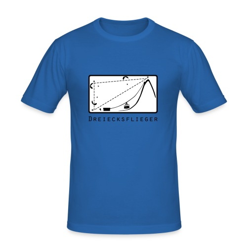 Dreiecksflieger Blau - Männer Slim Fit T-Shirt