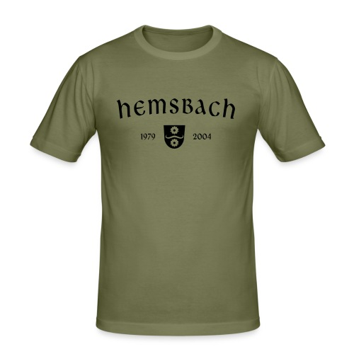 Slim Fit Shirt Hemsbach Oldschool - Männer Slim Fit T-Shirt