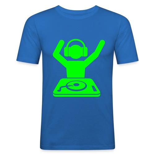 Herre T-skjorte ''Dj''   Trendyshirt - Slim Fit T-skjorte for menn