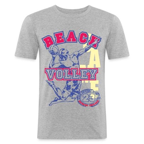 Dolphin Bay Beach Volley - Maglietta aderente da uomo