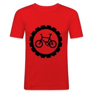 bike logo tee - Men's Slim Fit T-Shirt