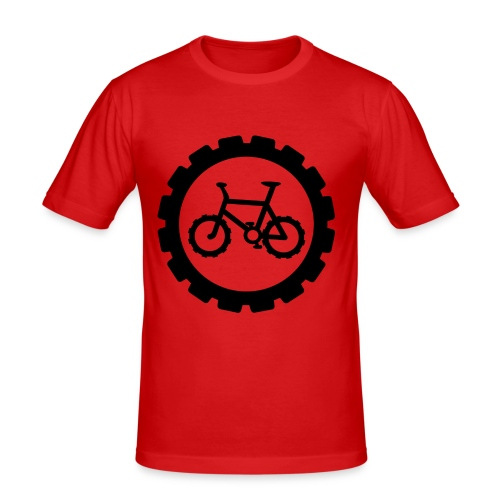 bike logo tee - Men's Slim Fit T-Shirt