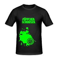 T-Shirts ~ Männer Slim Fit T-Shirt ~ Püppchen Schubser | Slim fit