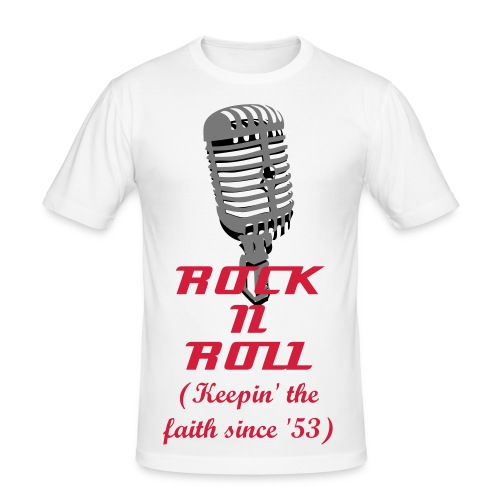 Rock N Roll Keepin' The Faith - White - Men's Slim Fit T-Shirt
