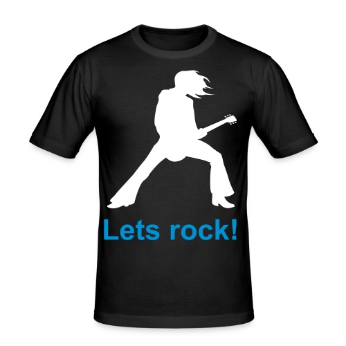 lets rock - Men's Slim Fit T-Shirt