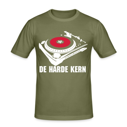 de harde kern - turntable shirt -legergroen - slim fit T-shirt