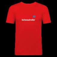 T-Shirts ~ Männer Slim Fit T-Shirt ~ Seitenaufreißer
