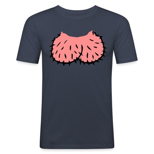 Peniskopf Slim Fit T-Shirt - Männer Slim Fit T-Shirt
