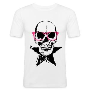 ☆_TETE DE MORT + GLASSES - Tee shirt près du corps Homme