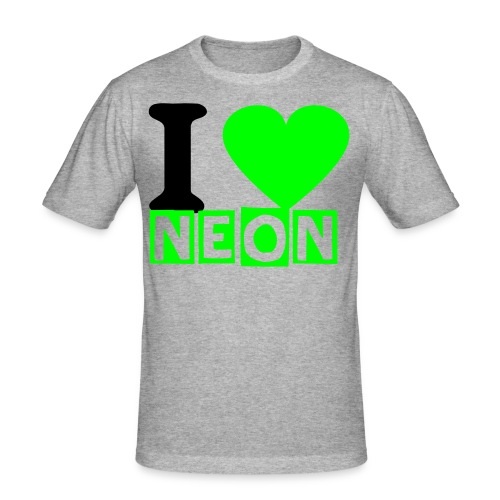 I LOVE NEON GREEN 2 - Männer Slim Fit T-Shirt