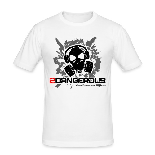 2 Dangerous White - Men's Slim Fit T-Shirt