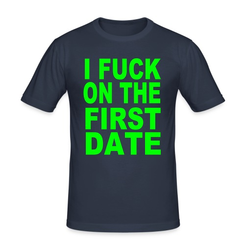 First Date - Herre Slim Fit T-Shirt