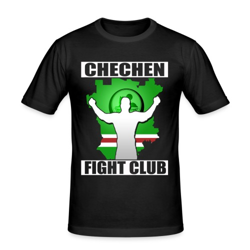 CHECHEN FIGHT CLUB  - Men's Slim Fit T-Shirt