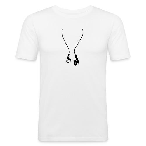 Rap - Earphones - Männer Slim Fit T-Shirt