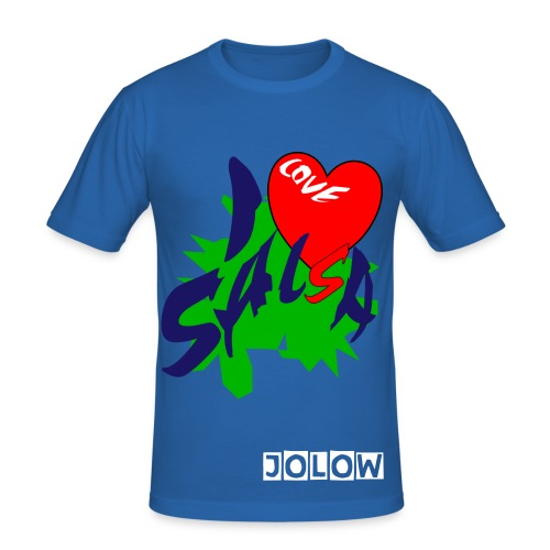 JOLOW I Heart Salsa Tee - Men's Slim Fit T-Shirt