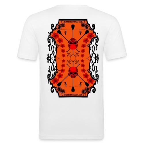 SUP Skull - Männer Slim Fit T-Shirt