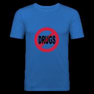 T-Shirts ~ Men's Slim Fit T-Shirt ~ No Drugs t-shirt