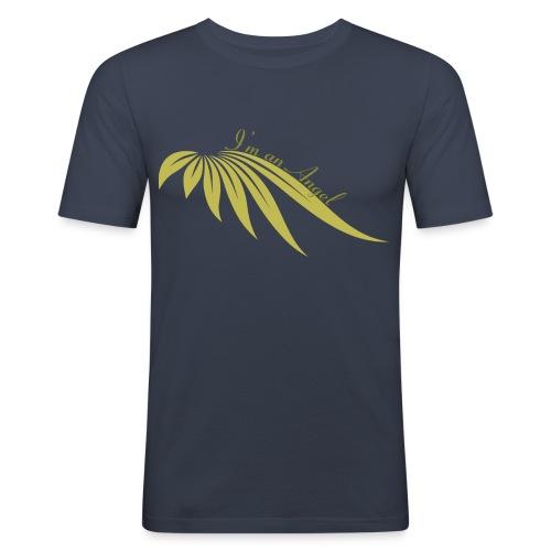 I am an Angel Marine / Or - T-shirt près du corps Homme