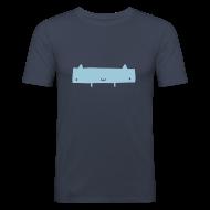 T-Shirts ~ Men's Slim Fit T-Shirt ~ Widecat Dark Navy