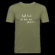T-Shirts ~ Männer Slim Fit T-Shirt ~ tut, tut, ich bin ein Auto (Das Original)