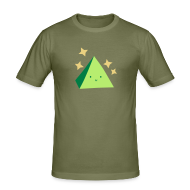 T-Shirts ~ Men's Slim Fit T-Shirt ~ Pyramid T-Shirt Green
