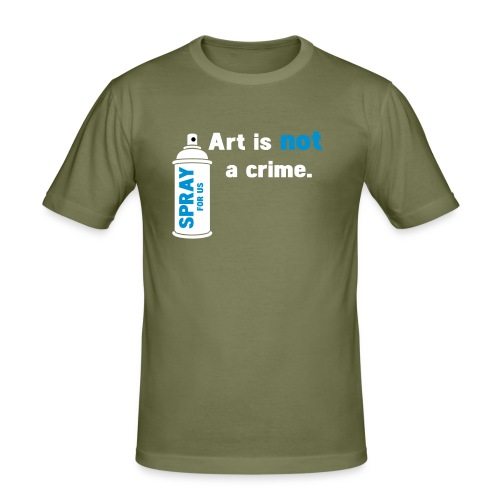 INKK Art is Not a Crime - T-shirt près du corps Homme