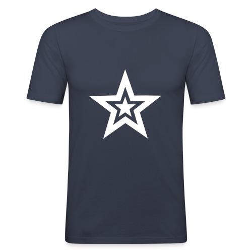 tähti - Miesten tyköistuva t-paita