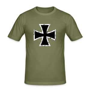 Iron Cross - Männer Slim Fit T-Shirt