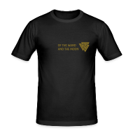 T-Shirts ~ Men's Slim Fit T-Shirt ~ Gold matt print
