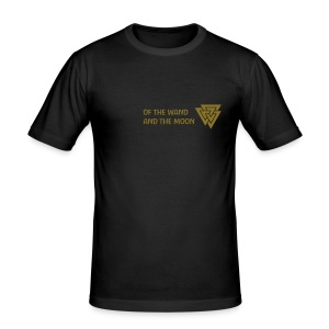 Gold matt print - Men's Slim Fit T-Shirt