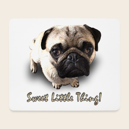 Sweet little Thing Mops Mouspad - Mousepad (Querformat)