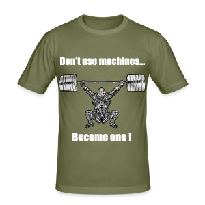 T-shirt Robot Devant Moulant - Tee shirt près du corps Homme