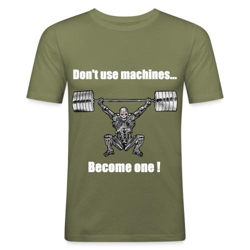 T-shirt Robot Devant Moulant - T-shirt près du corps Homme
