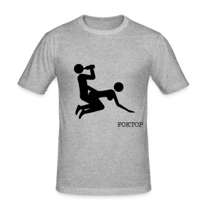 SOMETHING LIKE THAT GREY MEN - Tee shirt près du corps Homme
